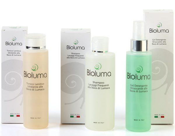 campioni omaggio bioluma shampoo gel detergente struccante tonico lenitivo idratante bava di lumaca
