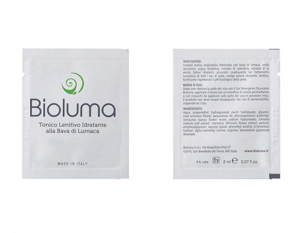 campioni omaggio bioluma tonico lenitivo idratante bava di lumaca