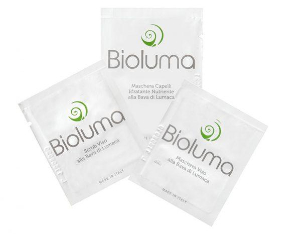 set scrub maschere bava di lumaca bioluma